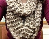 Womens knit infinity cowl scarf