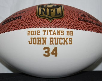 Personalized Laser Engraved Mini Autograph Football