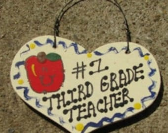 Teacher Gifts Number One 802  Third Grade Teacher