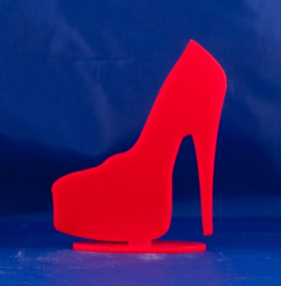 high heel shoe table topper birthday cake topper high
