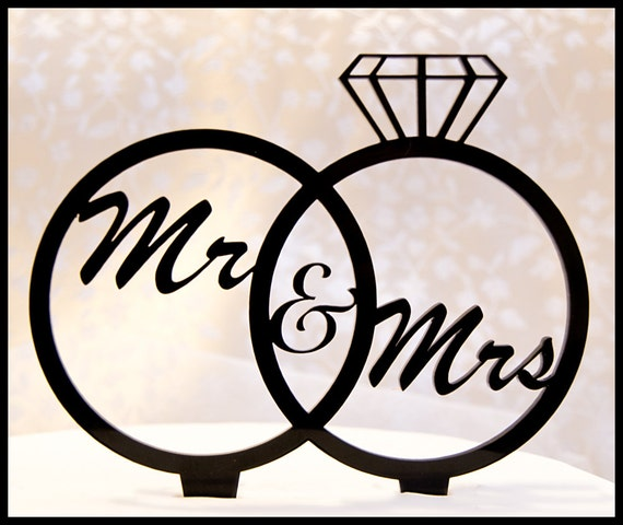 Welcome To Mr Hardison S Page: Wedding Cake Topper Mr And Mrs In Wedding Rings Diamond Ring