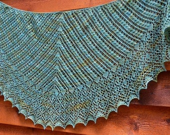 Kara's Shawl: Knit Shawl  Pattern, pdf download