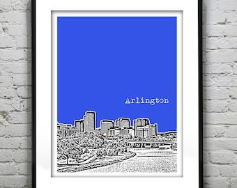 Arlington Virginia Skyline Poster Art Print VA Version 3