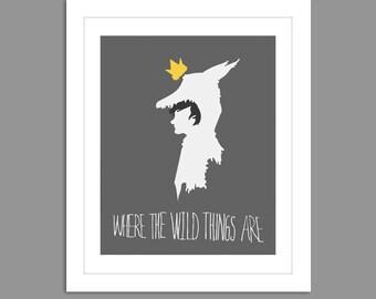 New Where the Wild Things Are Max Boy Head Dress Digital Download Where the Wild Things Are Nursery Art print Print kids,  8x10 or 11x14