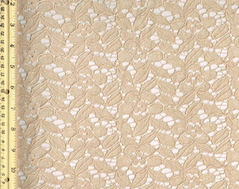 Celine Cotton Lace in Stone Color Wedding Bridal Craft Lace Fabric - 1 Yard Style 226