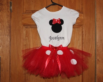 Minnie Mouse Tutu Outfit Free Personalization