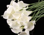 100pcs  White Cally Lily Real Nature Touch Flowers for DIY Bridal Bouquet Wedding Bouquet with Scent high quality
