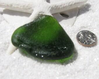 SALE // Beautiful Forest Green Beach Glass