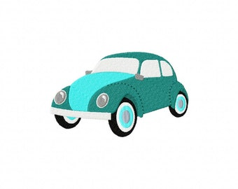 INSTANT DOWNLOAD Classic Bug Car Machine Embroidery Design