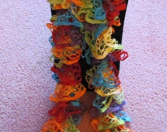 Starbella Fly A Kite Ruffled Knit Scarf