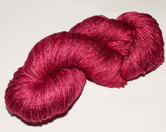 Downtown Merino/Silk  438 yard Hand-Dyed Fingering Yarn in Old Red