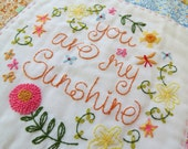 You are my Sunshine - Hand Embroidery Pattern - PDF