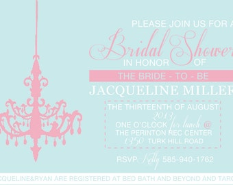 Chandelier Bridal Shower Invitation