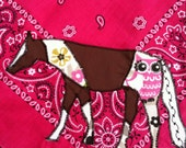 Paint Horse and Owl Bandanna Headscarf or Handkerchief