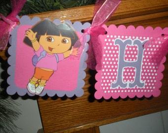 Dora The Explorer Banner, Dora Birthday Banner, Dora Birthday Party and Decorations, Dora Photo Prop