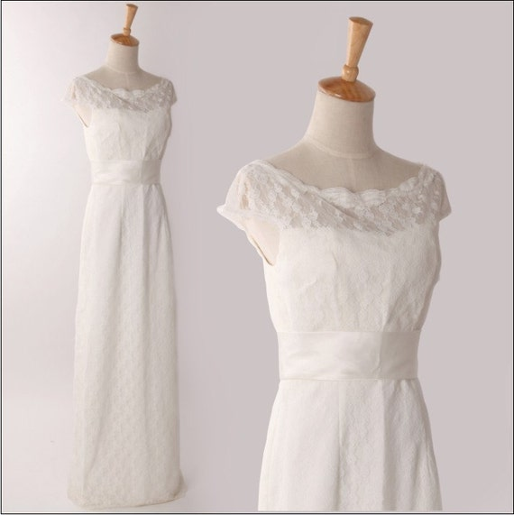 Adding Cap Sleeves Wedding Dress To: Vintage Inspired Lace Wedding Dress Cap Sleeves By Autoalive