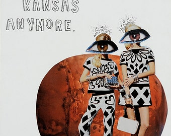We're Not In Kansas Anymore - Paper Collage