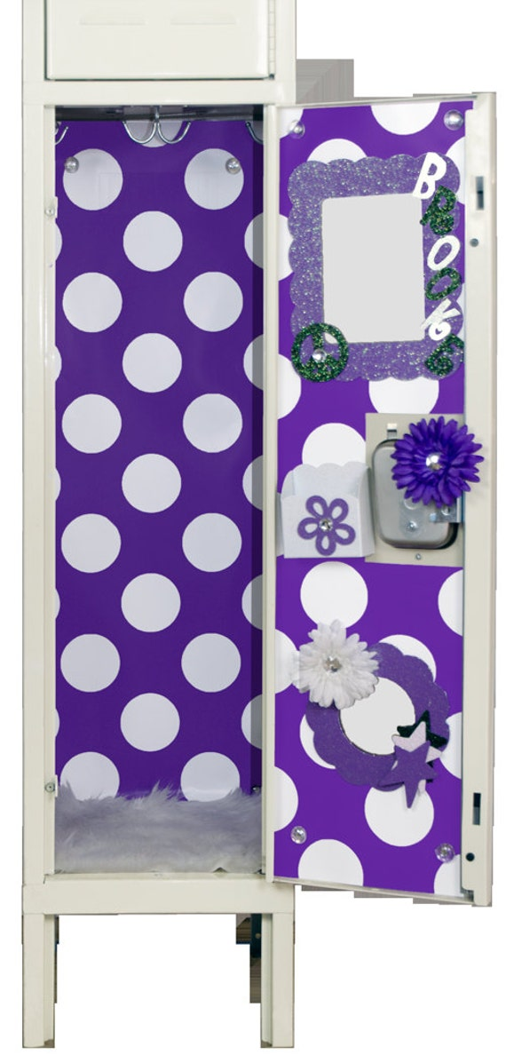 purple amp white polka dot locker wallpaper by luvurlocker