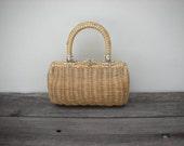 vintage summertime wicker mini handbag...too cute for words - JohnnyVelvet