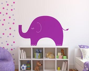 Elephant Vinyl Wall Decal size LARGE - Elephant Wall Sticker, Children Decal, Nursery Decal, Playroom Decal, Bedroom Decor, Baby Decor,