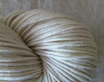 DK Glimmer Merino Silk Stellina Yarn DK Weight Natural Ecru Undyed Yarn Base, DK Undyed Yarn, Stellina Undyed Yarn Blank