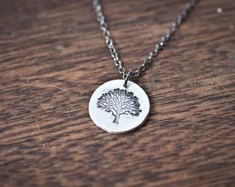 Oak Tree Necklace - Tree Necklace - Autumn Necklace - Fall Jewelry Necklace - Fall Pendant - Jewelry Oak Tree Necklace - Oak Tree Jewelry