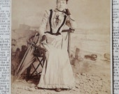 Antique Cabinet Card Photo - By The Sea in Vancouver