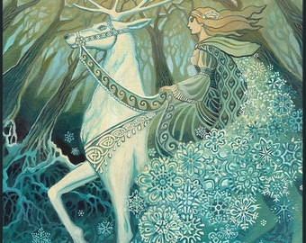 Snow Queen 8x10 Fine Art Print Pagan Mythology Bohemian Yule Winter Solstice Goddess