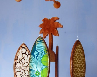 CUSTOM Baby Mobile - Surfboards - Wooden Mobile for a Beach Themed Nursery