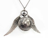 The Silver Snitch - Steampunk Pocketwatch Necklace