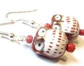 Sale Save 10% Owl Be Loving You - Owl Earrings Beaded Jewelry Kawaii Earrings