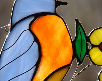 Stained Glass Eastern Bluebird