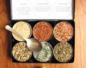 Gourmet seafood rubs kit - set of 6 - a great gift for the grilling guy.