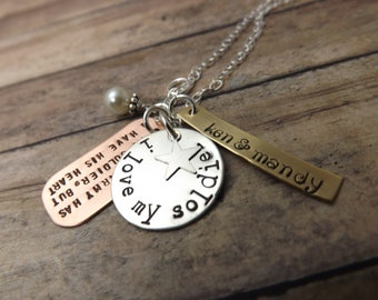 Hand-stamped-personalized necklace-military-army-veteran