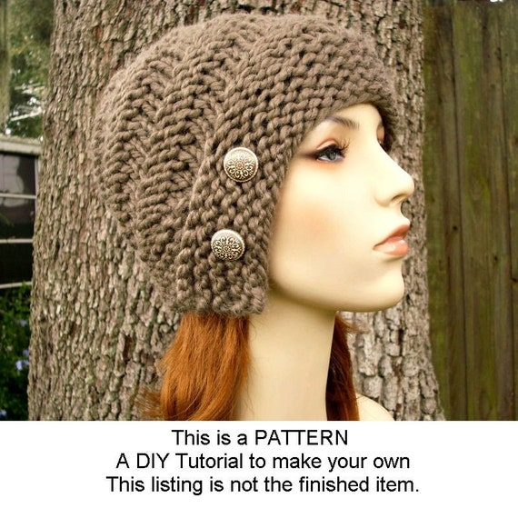 Instant Download Knitting Pattern - Womens Hat Pattern - Knit Hat Pattern for Hybrid Swirl Cloche Hat Pattern - Womens Accessories