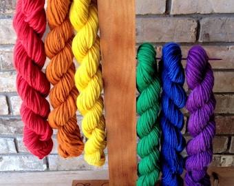 Handspun Yarn Wholesale Bulk 6 Skeins Single Spun Singles Handmade Yarn Average 100 Yards Each 4 Ounce Skein