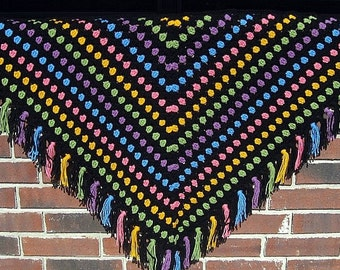 PDF Pattern Crocheted Shawl -- BEJEWELED SHAWL