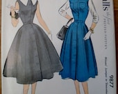 1950s Jumper or Sleeveless Dress Pattern Vintage McCall's 9877