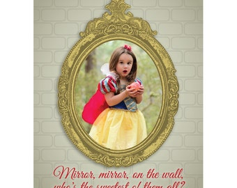 "Snow White Birthday Party Decoration - 16"" x 20"" Printable Jpeg  (matching birthday invitation also available for purchase)"