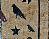Star Crow Scarf Hat Line Paint Stencil Add On Primitive Mylar Original Design OFG Team