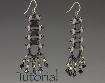 Beaded Earrings Tutorial: River Walk Digital Download