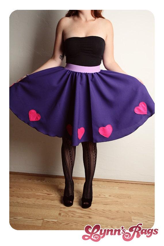 Purple Pink Heart Skirt Handmade Diy Lolita High Waisted Bow SALE SALE SALE