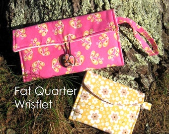Instant Download - PDF Sewing Pattern Bundle- Fat Quarter Wristlet and Key Chain Pouch Wallet - SALE