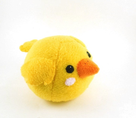 Yellow Bird Stuffed Animal Childrens Plush Toy