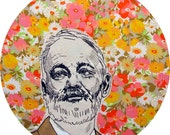 Bill in a Sea of Flowers