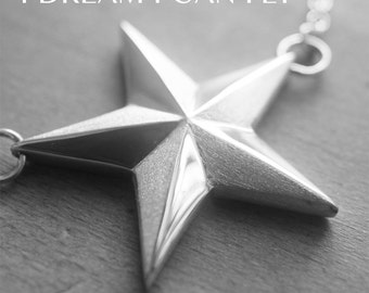 Star necklace in solid sterling silver