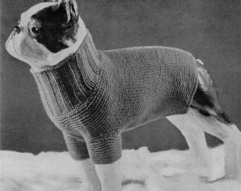 Dog Tuxedo Knitting Pattern : Etsy Studio
