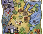 "Map of Salem Massachusetts Art Print 8"" x 10"""