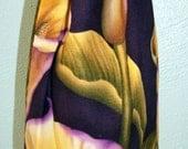 Calla Lily Wine Bottle Bag - Reversible - Drawstring - Reusable