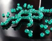 Science jewelry Cyanobacteria necklace blue green algae bacteria - Microbiology weird biology nerd geek doctor gift emerald green rusteam